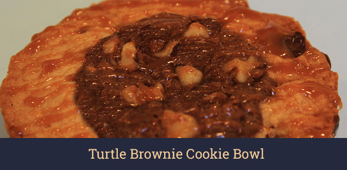 Turtle Brownie Cookie Bowl