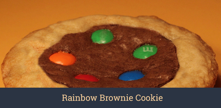 Rainbow Brownie Cookie